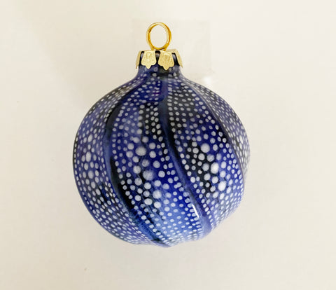Sugar Plum Large Ornament, Navy