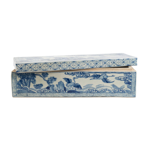 Blue and White Decorative Box