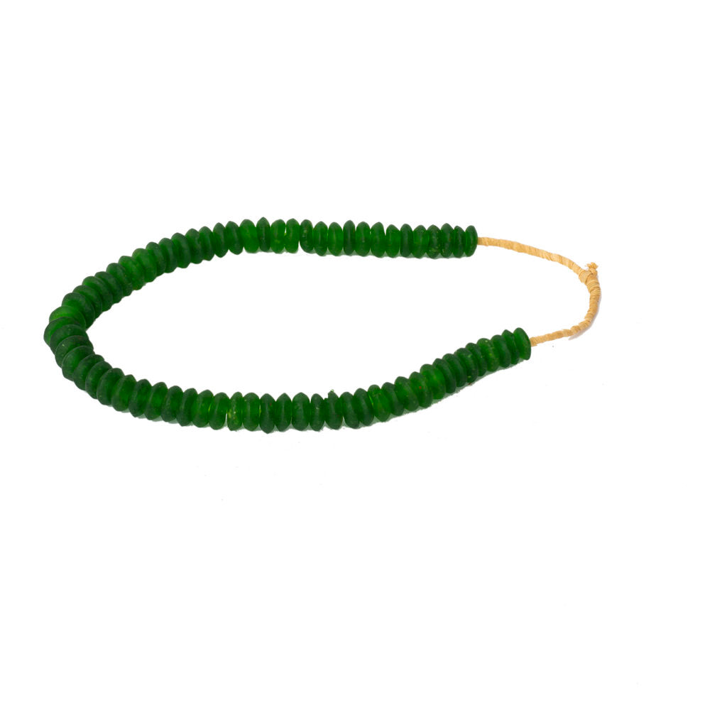 Green Recycled Glass Beads
