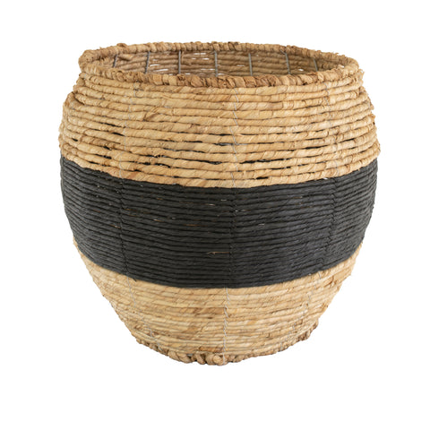 Black Band Woven Basket, Large