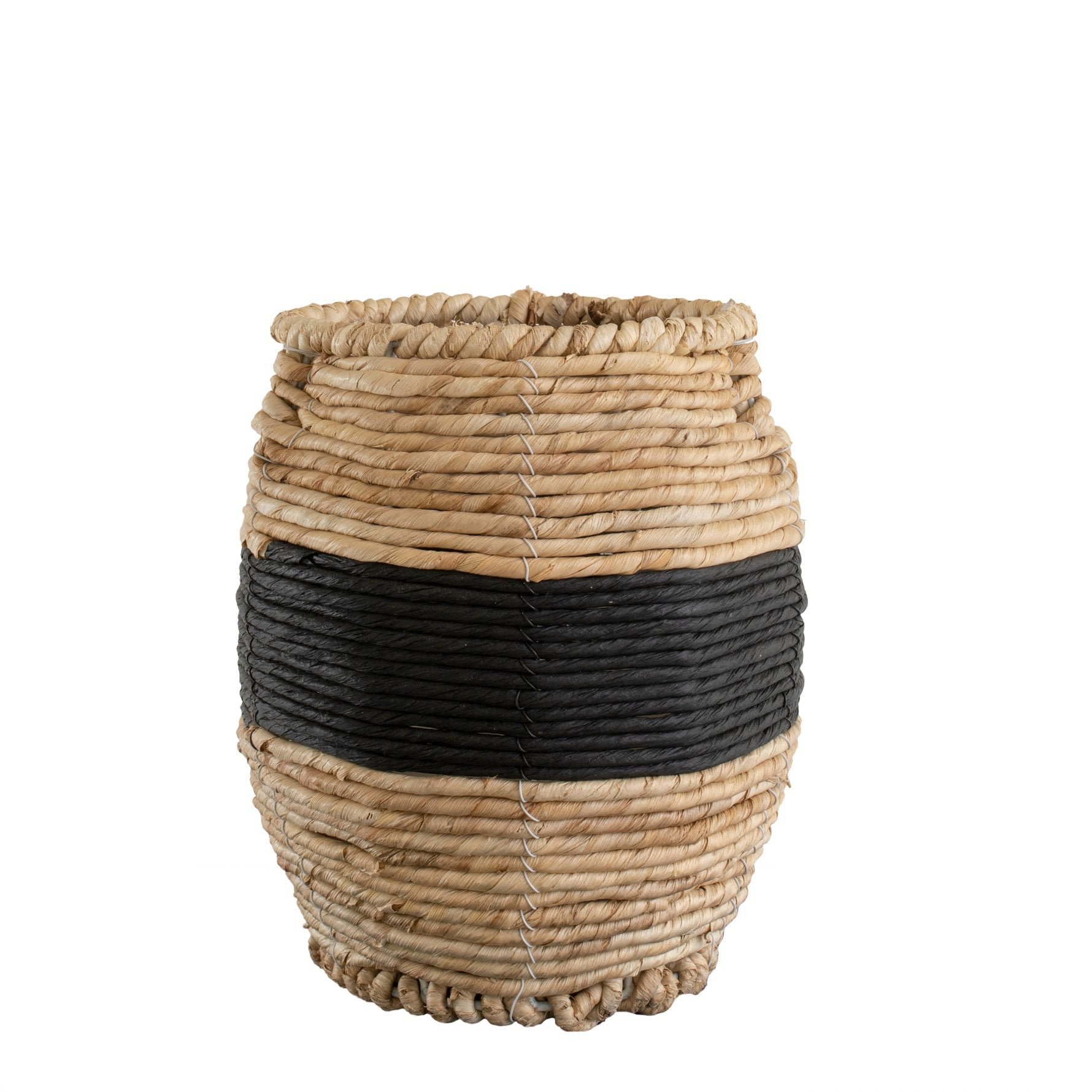 Black Band Woven Basket SMALL
