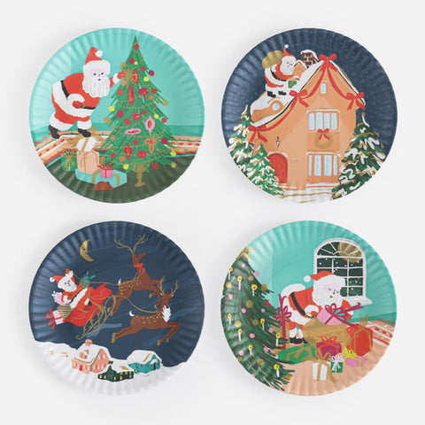Ho! Ho! Ho! Melamine plate set of 4