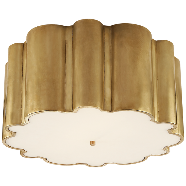 Single Scallop Flush Mount Light