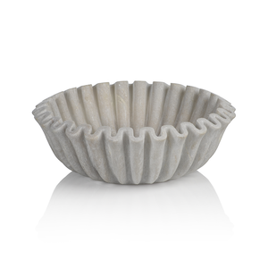 The Marble Scalloped Bowl