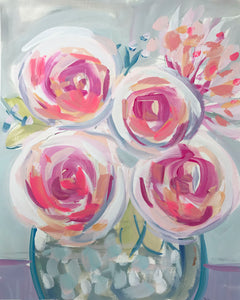 Floral Abstract, Whimsical Roses