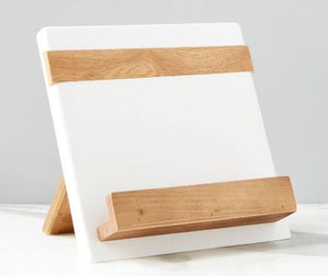 Color Block Cookbook/Tablet Holder - White