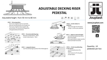Decking Riser - 40/65mm (Pack of 10) - Jouplast UK