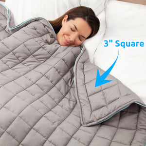 20 lb Weighted Blanket in Grey with Patent Pending