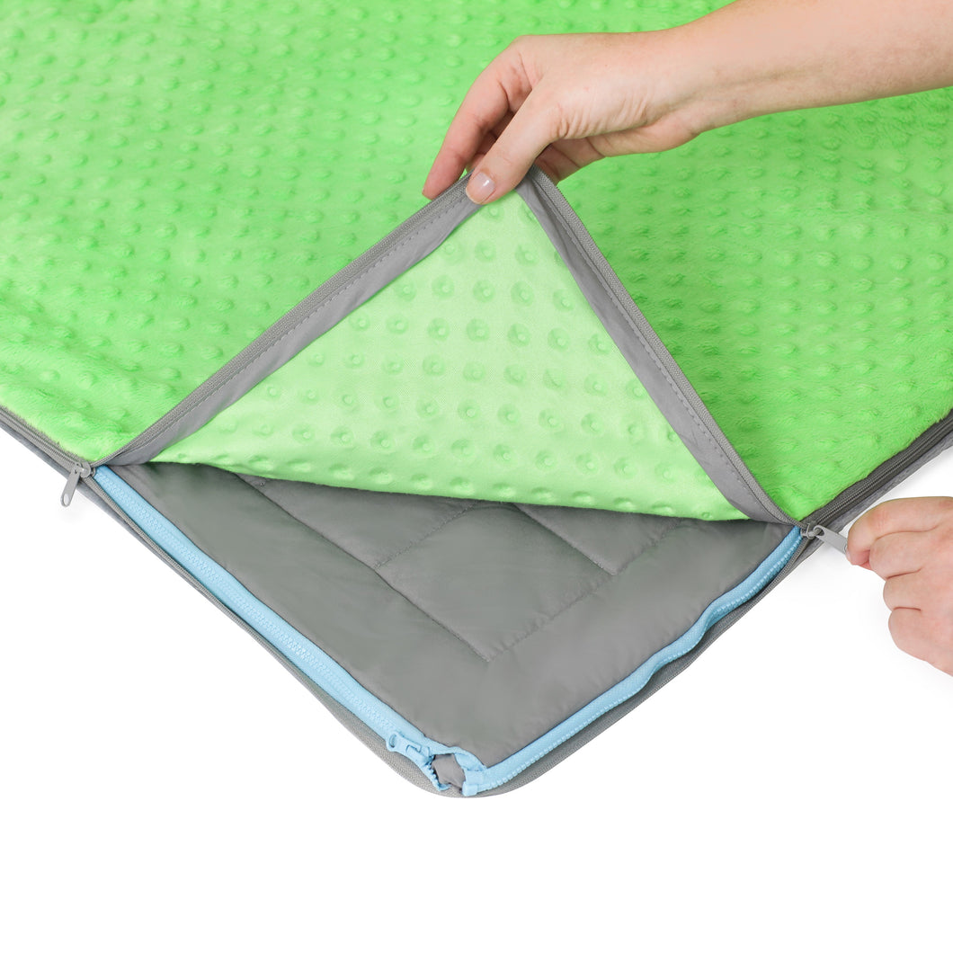 10 lb Weighted Blanket in Lime Green