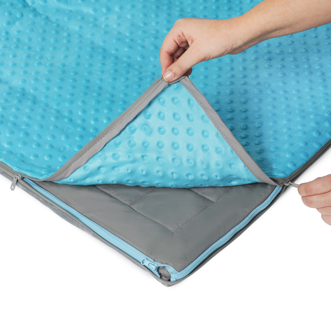 10 lb Weighted Blanket in Aqua Blue