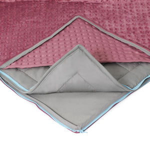 15 lb Weighted Blanket in Mauve with Patent Pending Zipper System