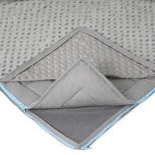 20 lb Weighted Blanket in Grey with Patent Pending Zipper System