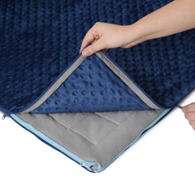 20 lb Weighted Blanket in Navy Blue with Patent Pending Zipper System