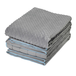 "15 lb Weighted Blanket With Full Zipper System | 60""x80"" 