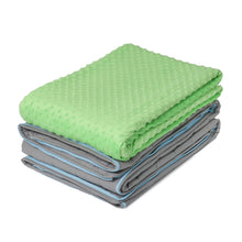 10 lb Weighted Blanket in Lime Green with Patent Pending Zipper System