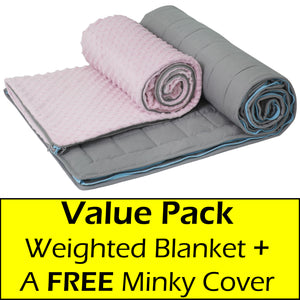 10 lb Weighted Blanket in Light Pink with Patent Pending Zipper System