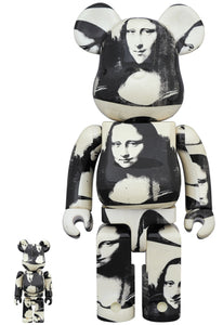 Andy Warhol Double Mona Lisa Bearbrick Set