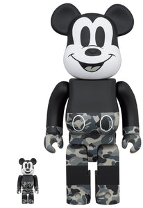 MICKEY MOUSE BAPE MONOTONE VERSION BEARBRICK SET