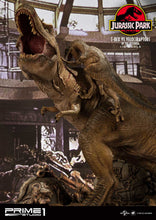 Load image into Gallery viewer, Pre-Order: T-Rex vs Raptors in the Rotunda
