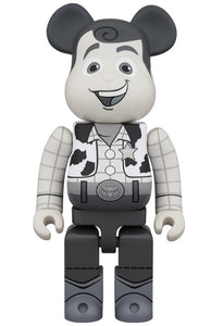 Woody Black and White 400% Bearbrick