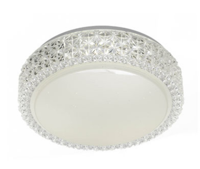AMELIA 28 LED OYSTER  nonDIM - WHITE/CLEAR