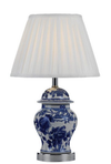 LING TABLE LAMP  BLUE / WHITE