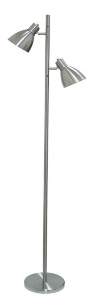 TORRES 2 FLOOR LAMP 2x60wE27 H1620 NICKEL