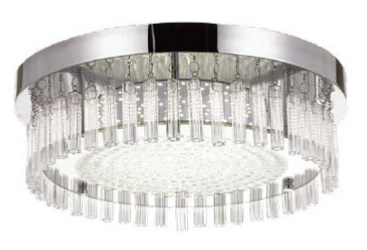 ANDELA ROUND LED OYSTER 30w LED DIM - CHROME/CLEAR