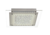 SOPHIA SQUARE LED OYSTER 30wLED L360W360 H115 5000K -2400Lm DIM - CHROME/CLEAR