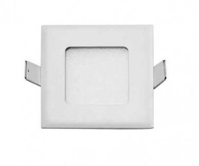 STOW SQUARE DOWN / WALL LIGHT 3watt 240v D90 CO70x70 WHITE 5000K 200Lm