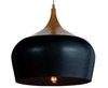 POLK 30 PENDANT 40wE27 max D300 H270 BLACK with OAK