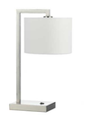 SALA TABLE LAMP 40wE27 D240 H510 NICKEL / WHITE LINEN