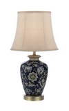 NASHI 33 TABLE LAMP  DK.BLUE / TAUPE