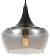 LANDY 30 PENDANT BLACK/SMOKE GLASS