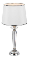 DIANA TABLE LAMP 40wE27max. D280 H550 CHROME / CRYSTAL / WHITE