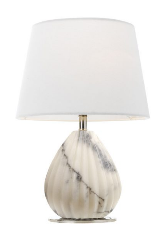 ORSON TABLE LAMP NK/ WHITE WHITE