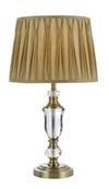 WILTON TABLE LAMP 40wE27max D340 H630 ANT.BRASS / GOLD