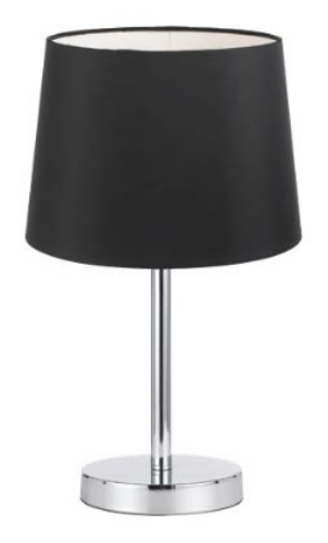 ADAM TABLE LAMP BLACK / CHROME