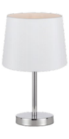 ADAM TABLE LAMP  WHITE / CHROME