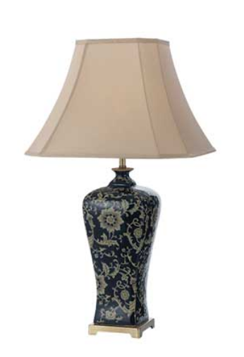 NASHI 40 TABLE LAMP  DK.BLUE / TAUPE