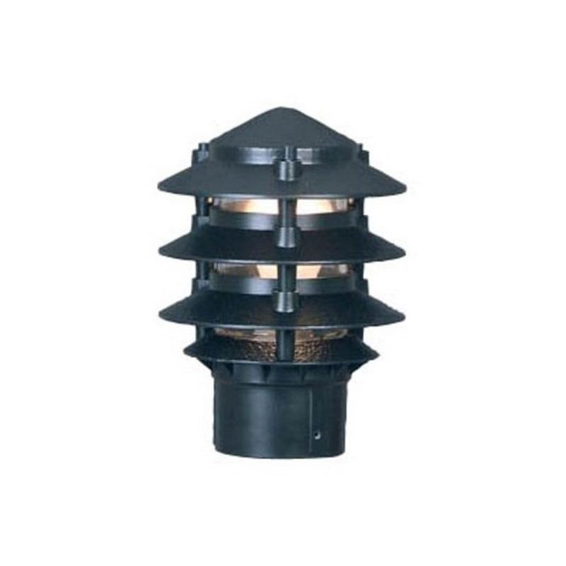 PAGODA POINTED GREEN LOUVERED LIGHT