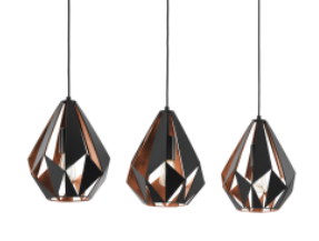 CARLTON 1 3 LIGHT BLACK and COPPER