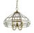 4 light antique brass pendant