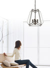 4 Light Pendant Matt Black