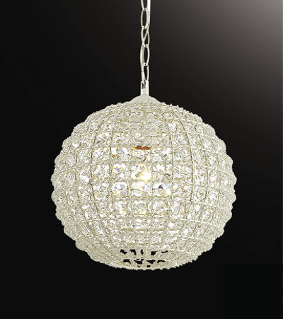 1 Light Antique Pendant With Crystal Beads