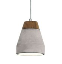 TAREGA H/L 1X60W E27 WOOD W GREY CONCRETE