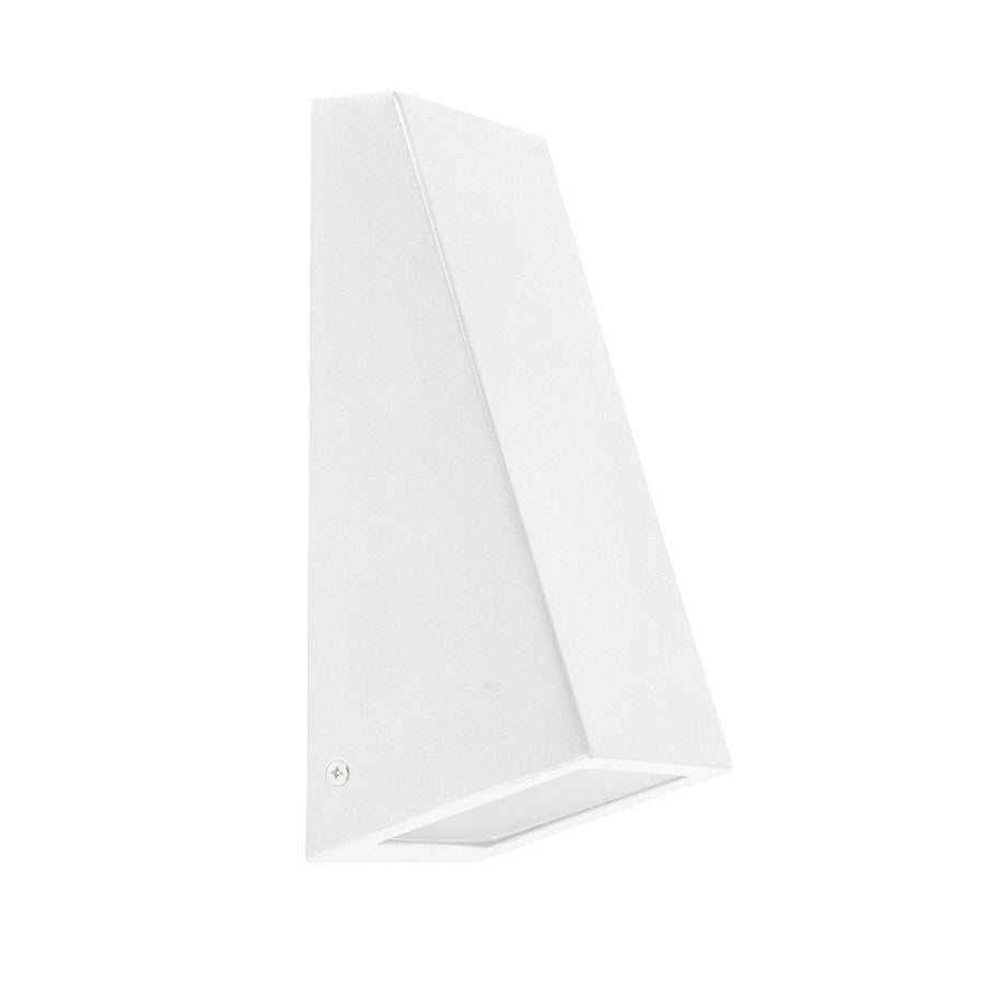 Square Wall Wedge Poly Powder Coated White