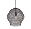 Harper Dark Grey Small Wire Pendant w- Dark Grey Metal Lampholder- E27
