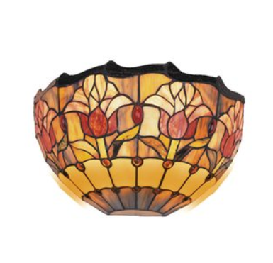 Red Tulip Wall Light