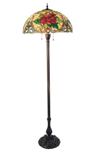 Red Camellia Floor Lamp